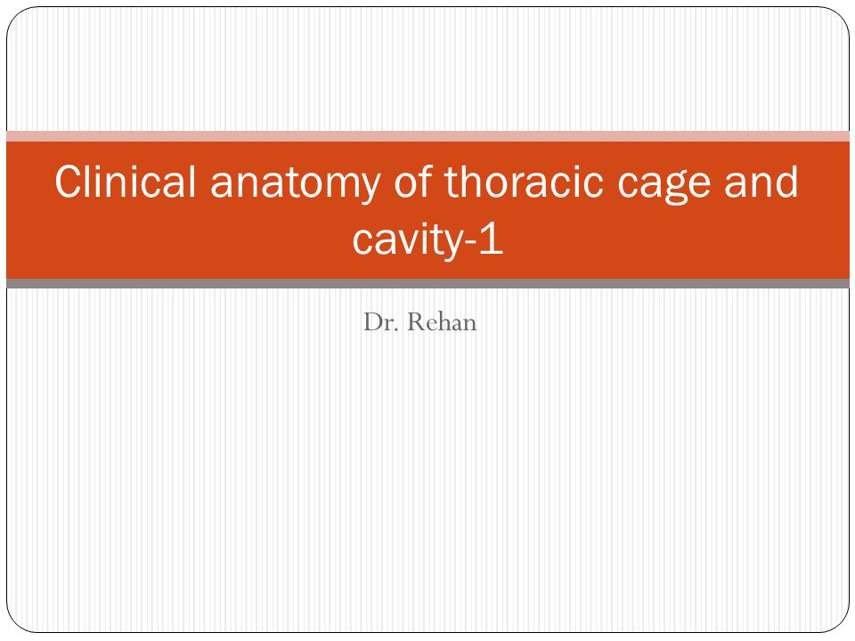 Dr. Rehan Clinical anatomy of thoracic cage and cavity-1