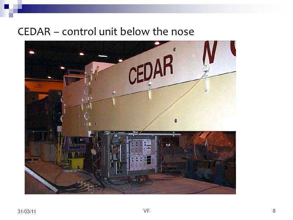 VF8 31/03/11 CEDAR – control unit below the nose