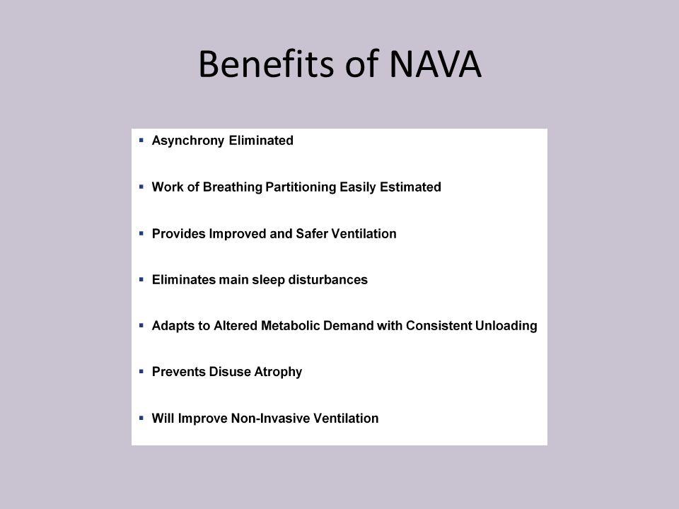 Benefits of NAVA