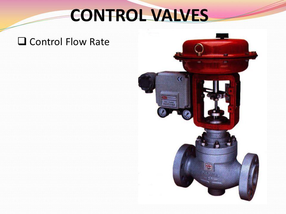 CONTROL VALVES  Control Flow Rate