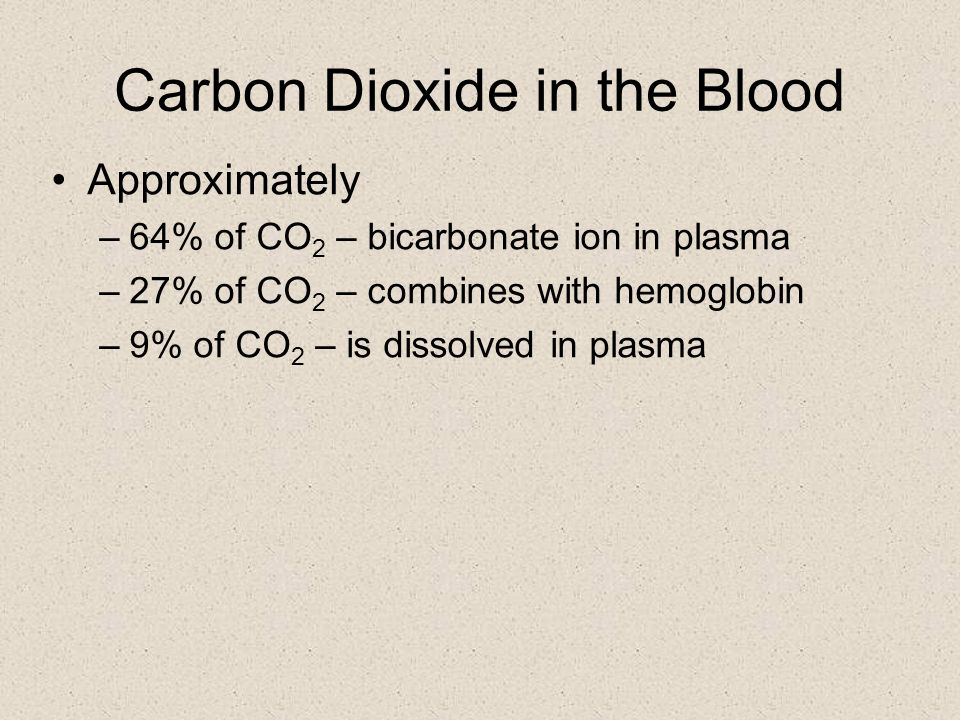 Transport of Gases OXYGEN TRANSPORT –hemoglobin transports about 97% of the oxygen –3% will diffuse into the plasma –the hemoglobin molecule is composed of 4 peptide chains with an iron center –oxygen attaches to hemoglobin to form oxyhemoglobin –oxygen is released in the tissues