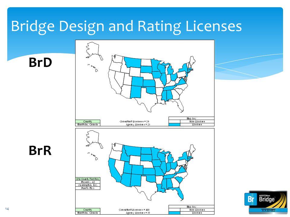 Bridge Design and Rating Licenses BrD BrR 14