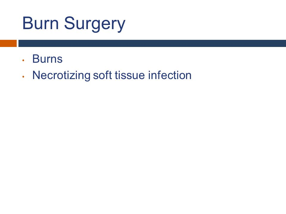 Burn Mechanism Rule out inhalational injury History: enclosed space, smoke Physical: soot in mouth, singed facial hairs, hoarseness Labs: methemoglobin on ABG Bronchoscopy Resuscitate – Parkland Formula, LR Evaluate pulses for need for escharotomy / fasciotomy
