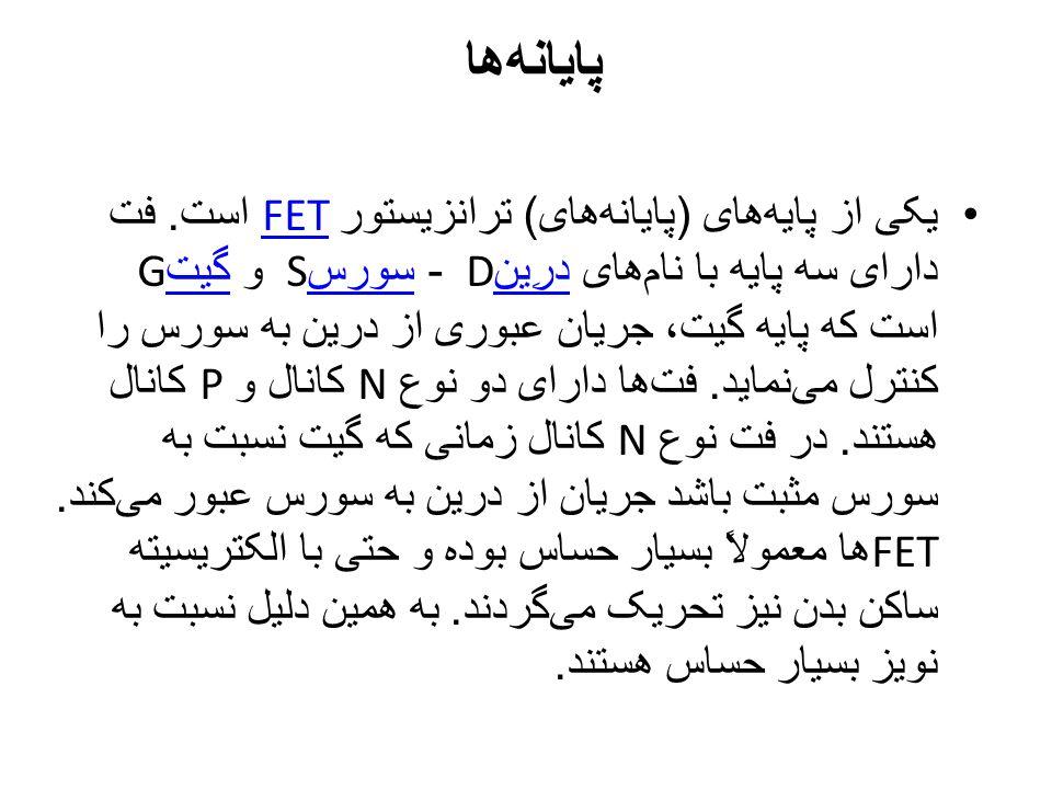 پایانه  ها یکی از پایه  های ( پایانه  های ) ترانزیستور FET است. فت دارای سه پایه با نام  های درِین D - سورس S و گیت G است که پایه گیت، جریان عبوری