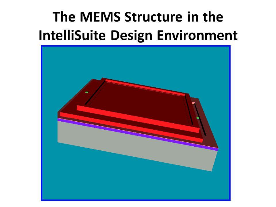 The MEMS Structure in the IntelliSuite Design Environment