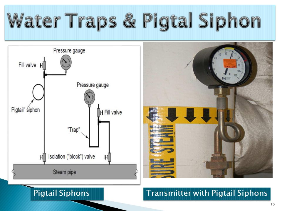 Pigtail Siphons Transmitter with Pigtail Siphons 15