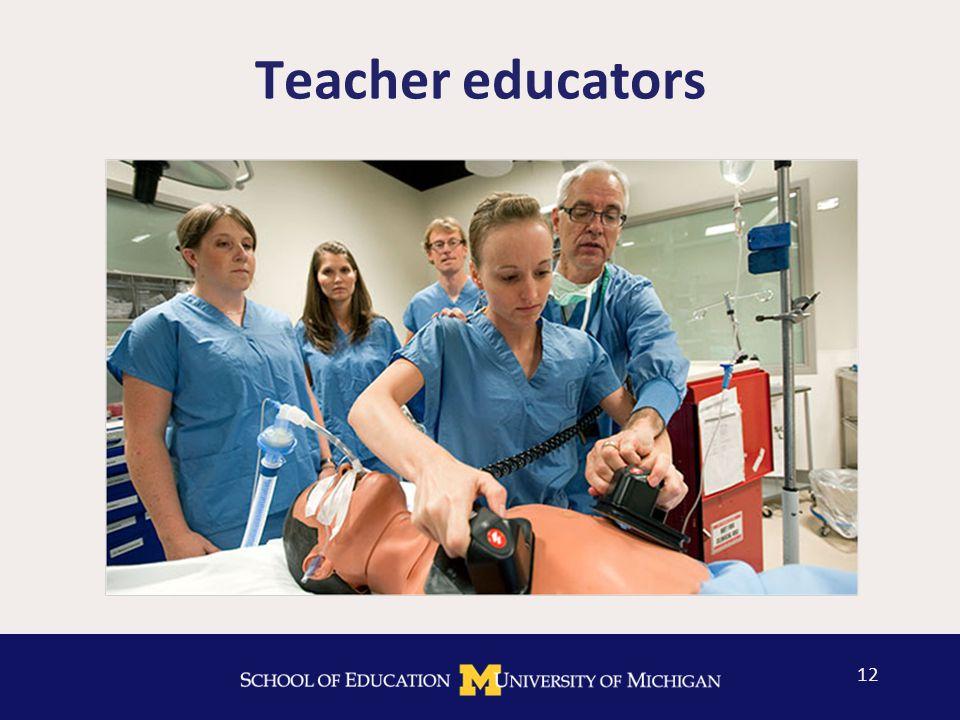Teacher educators 12