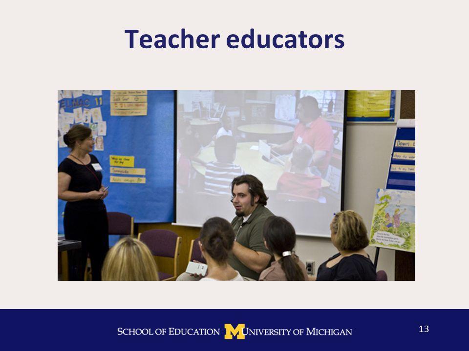 Teacher educators 13