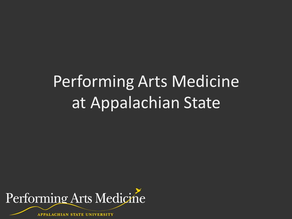 Performing Arts Medicine at Appalachian State