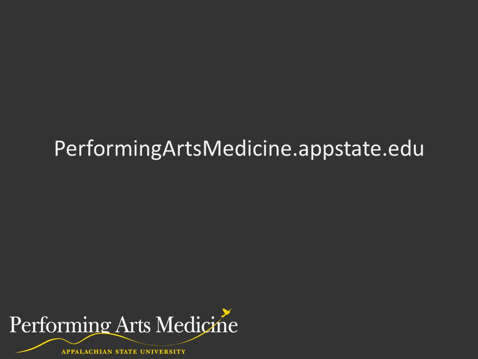 PerformingArtsMedicine.appstate.edu