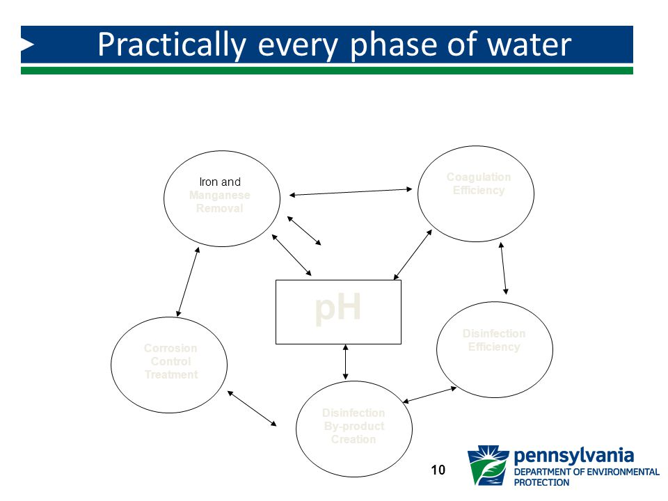 Practically every phase of water treatment is pH dependent.