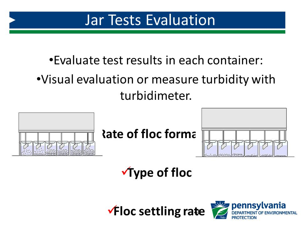 Evaluate test results in each container: Visual evaluation or measure turbidity with turbidimeter.