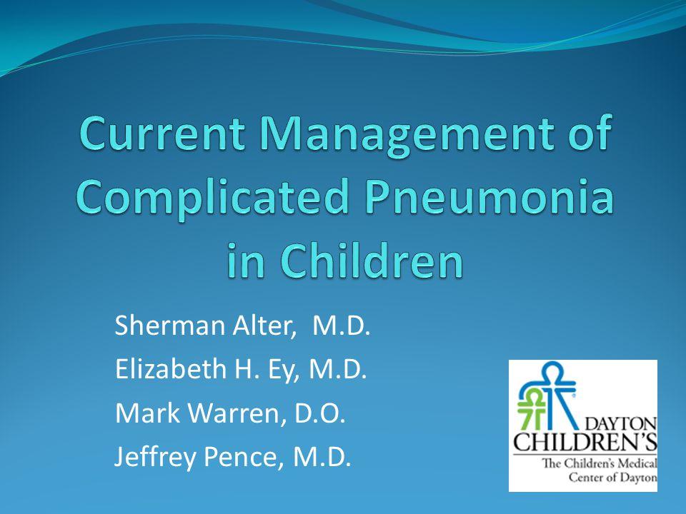 Sherman Alter, M.D. Elizabeth H. Ey, M.D. Mark Warren, D.O. Jeffrey Pence, M.D.