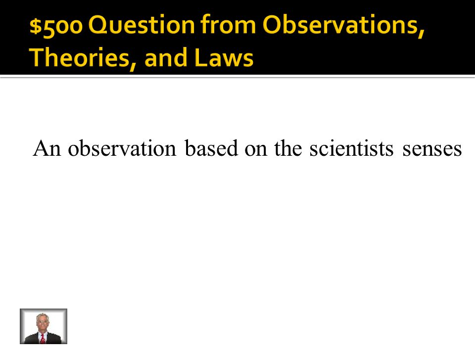 What is a quantitative observation