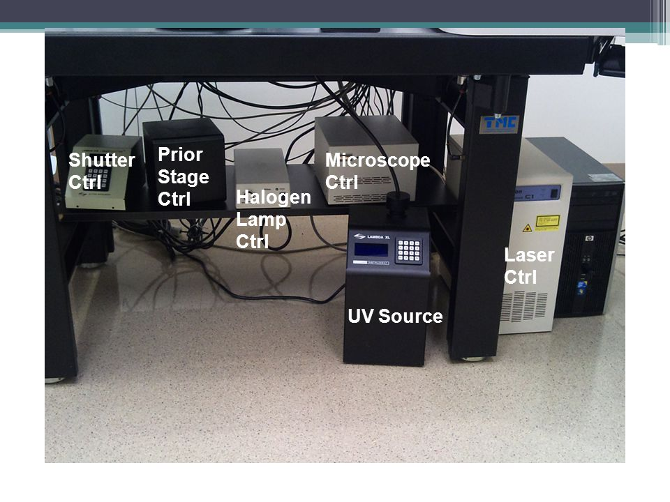 UV Source Laser Ctrl Microscope Ctrl Halogen Lamp Ctrl Prior Stage Ctrl Shutter Ctrl
