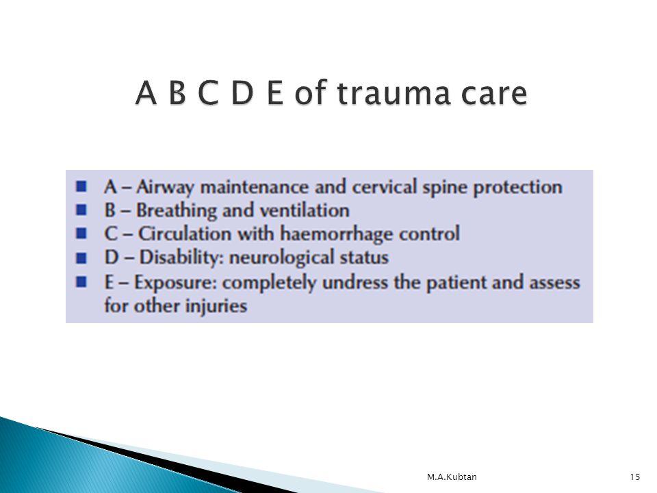 M.A.Kubtan15 A B C D E of trauma care