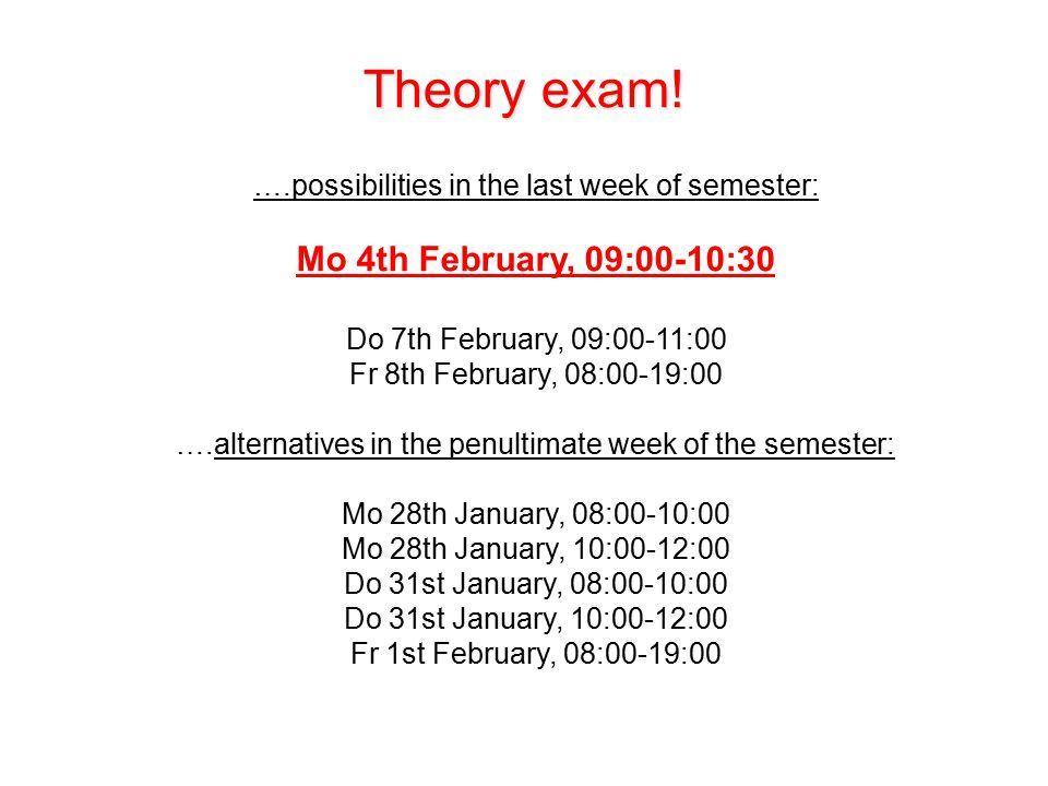 Theory exam.
