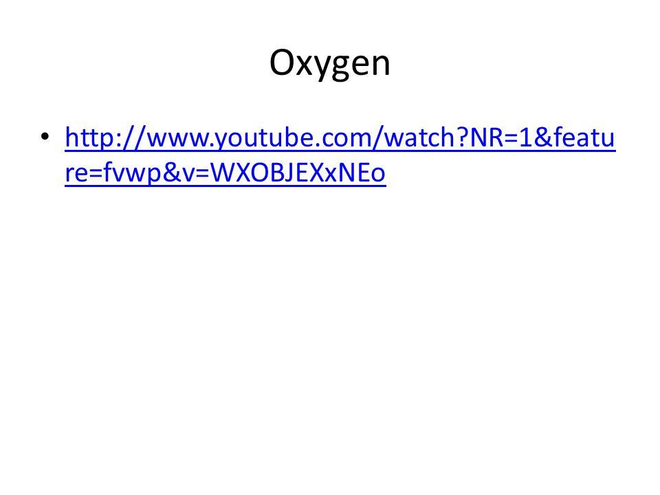 Oxygen http://www.youtube.com/watch?NR=1&featu re=fvwp&v=WXOBJEXxNEo http://www.youtube.com/watch?NR=1&featu re=fvwp&v=WXOBJEXxNEo