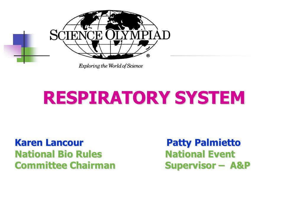 Respiratory System Respiratory System – Functions Basic functions of the respiratory system are: 1.