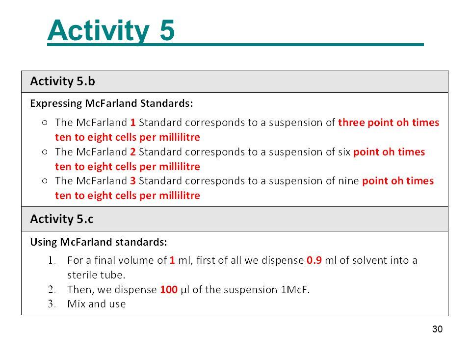 30 Activity 5