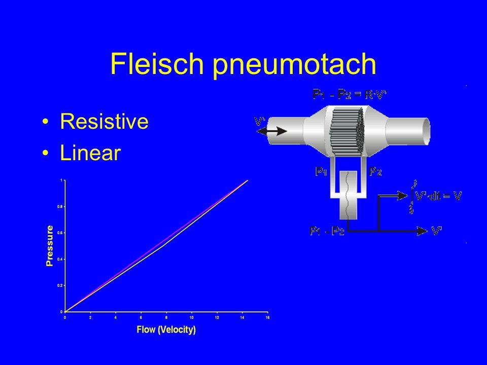 Fleisch pneumotach Resistive Linear