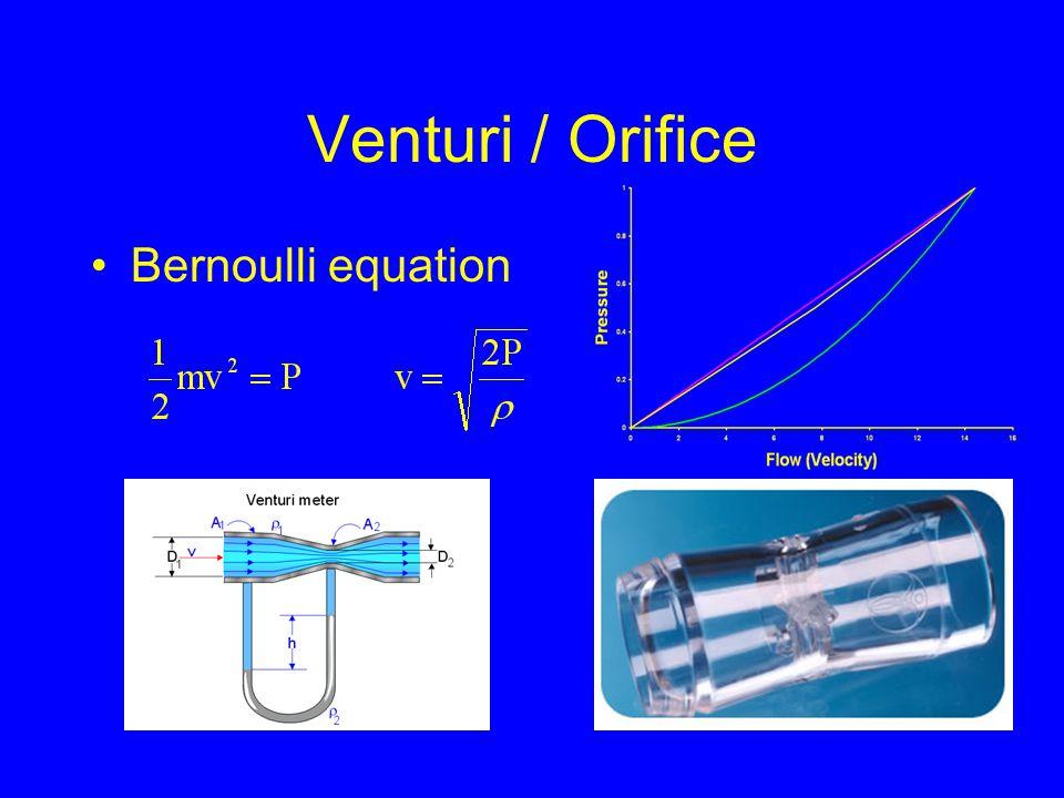 Venturi / Orifice Bernoulli equation