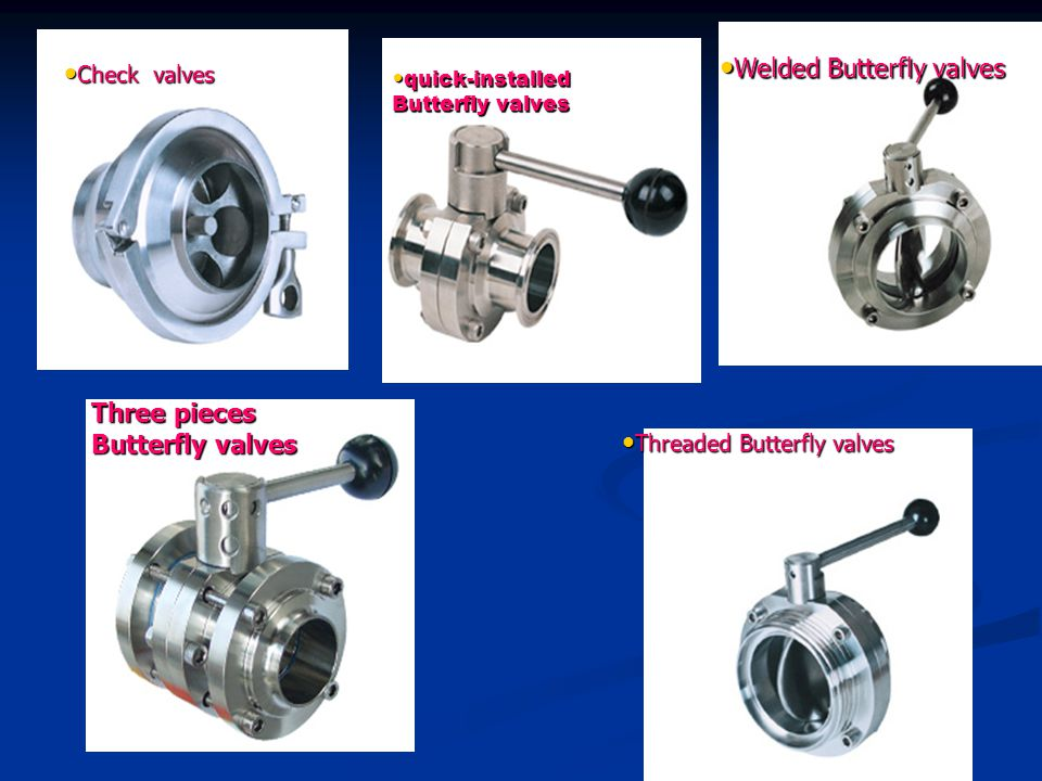 Threaded Butterfly valves Threaded Butterfly valves Three pieces Butterfly valves Welded Butterfly valves Welded Butterfly valves quick-installed Butterfly valves quick-installed Butterfly valves Check valves Check valves