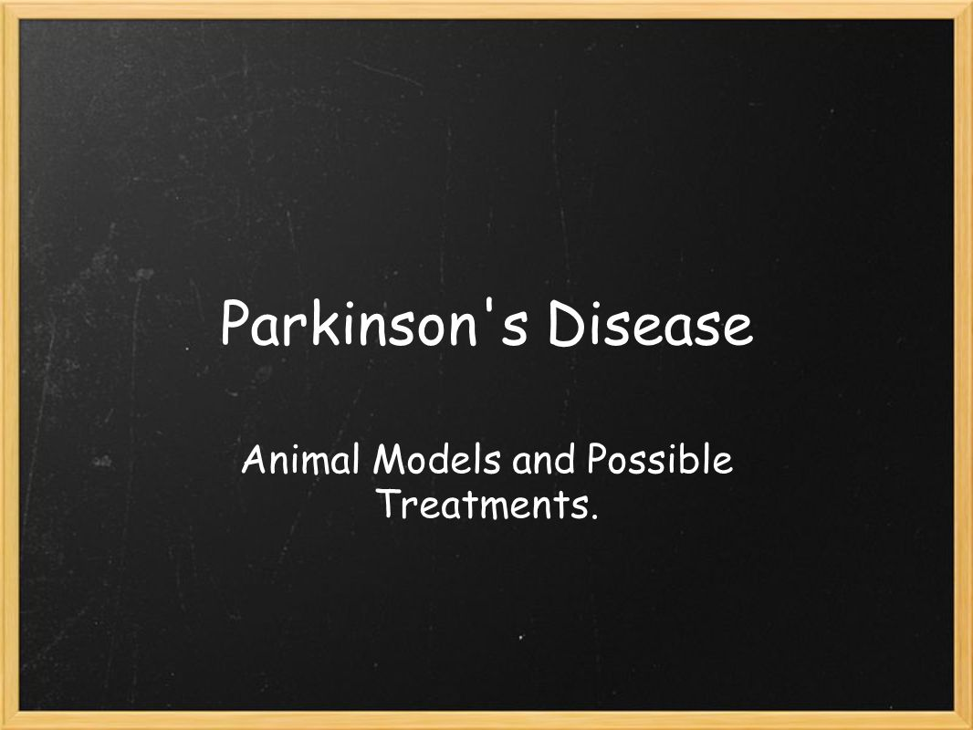 Parkinson s Disease Animal Models and Possible Treatments.