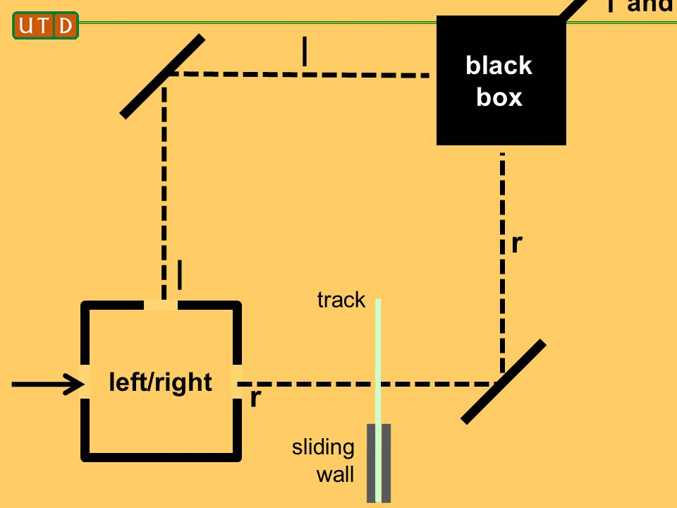 black box and r sliding wall track r l l r l