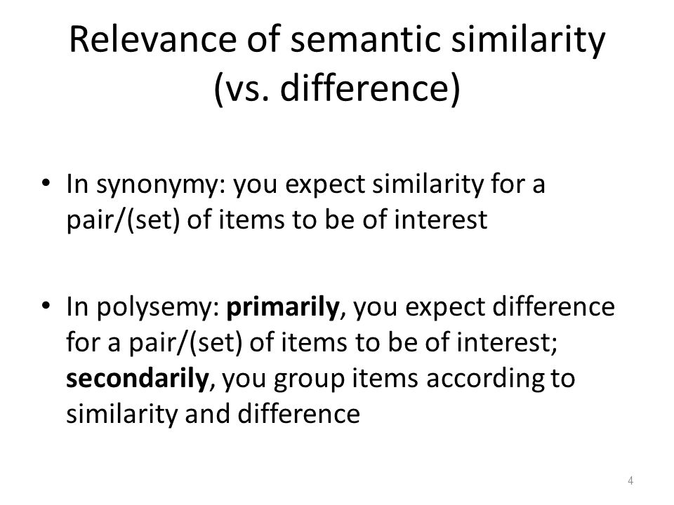 Conclusions so far In both synonymy and polysemy studies, semantic intuitions vary.