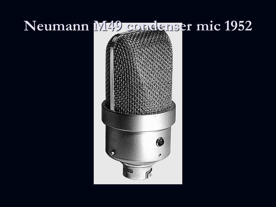Neumann M49 condenser mic 1952