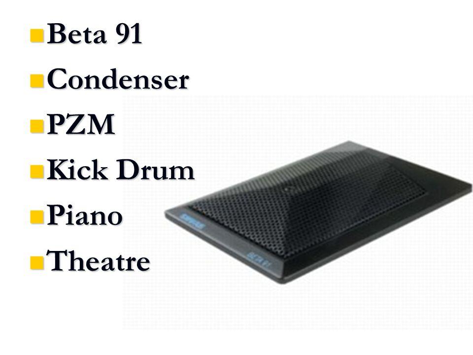 Beta 91 Beta 91 Condenser Condenser PZM PZM Kick Drum Kick Drum Piano Piano Theatre Theatre
