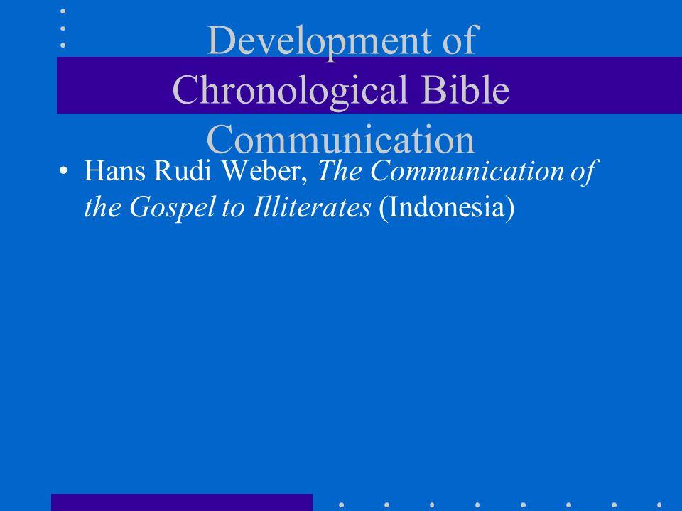 Hans Rudi Weber, The Communication of the Gospel to Illiterates (Indonesia)
