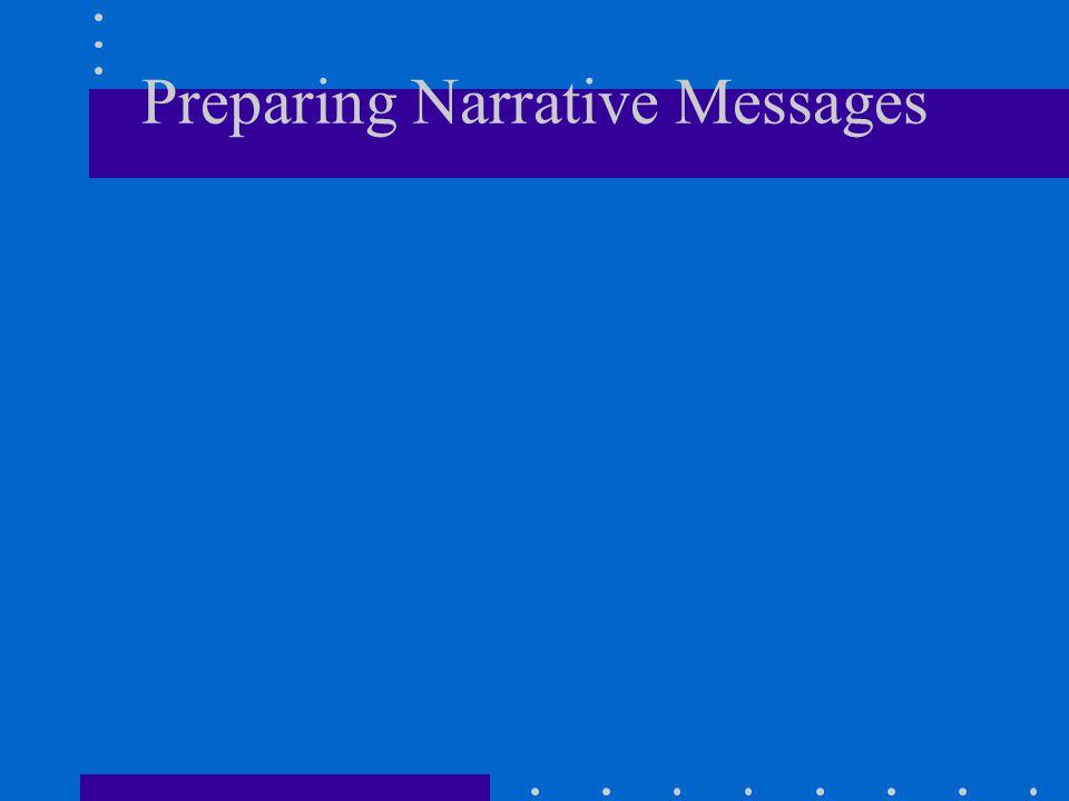 Preparing Narrative Messages