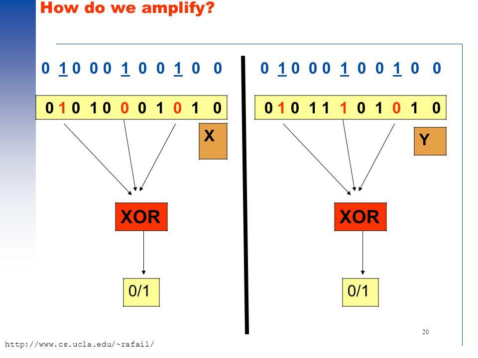 20 http://www.cs.ucla.edu/~rafail/ How do we amplify.