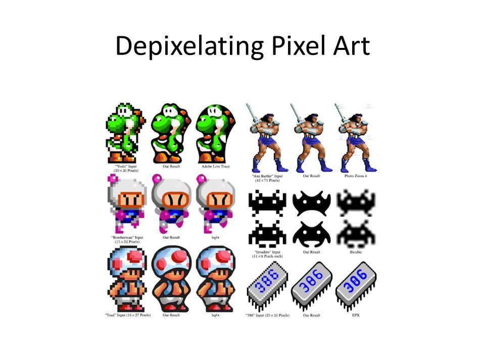 Depixelating Pixel Art