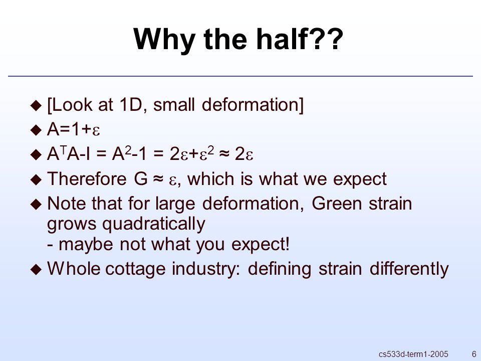 6cs533d-term1-2005 Why the half .
