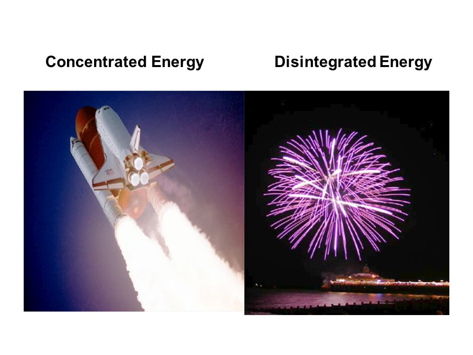 Concentrated Energy Disintegrated Energy