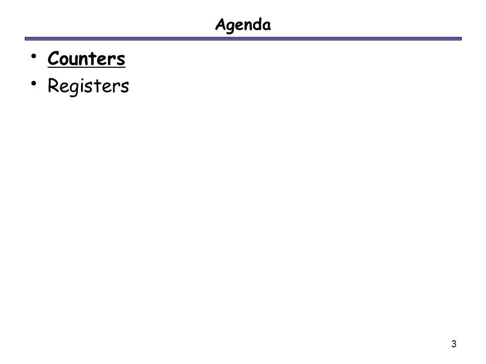 3 Agenda Counters Registers