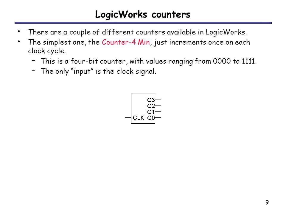 10 More complex counters More complex counters are also possible.