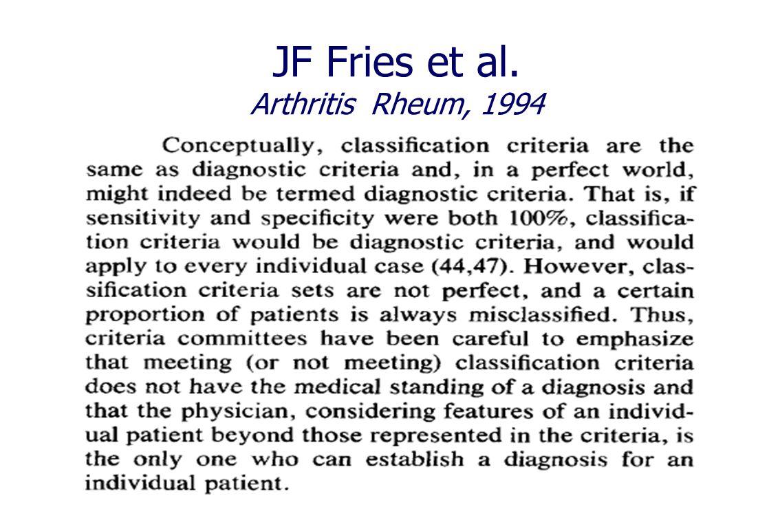 JF Fries et al. Arthritis Rheum, 1994