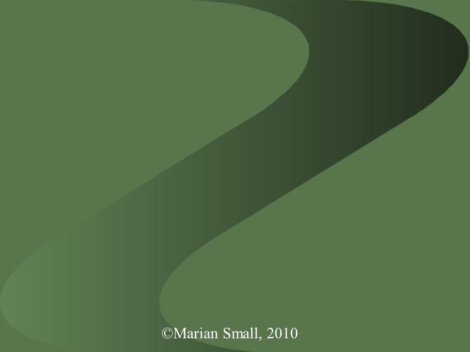©Marian Small, 2010