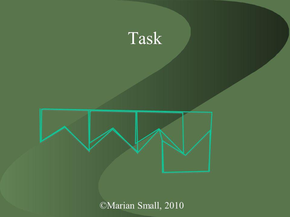 ©Marian Small, 2010 Task