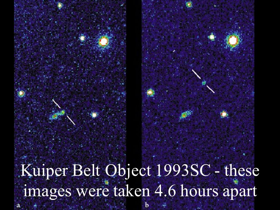 Kuiper Belt Object 1993SC - these images were taken 4.6 hours apart