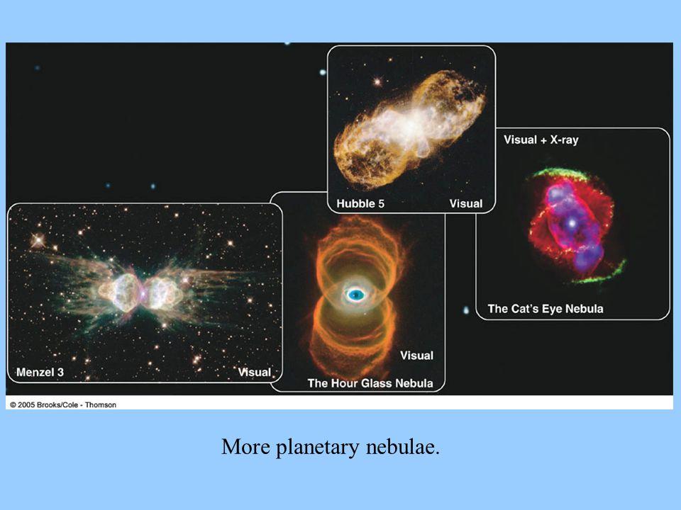 More planetary nebulae.