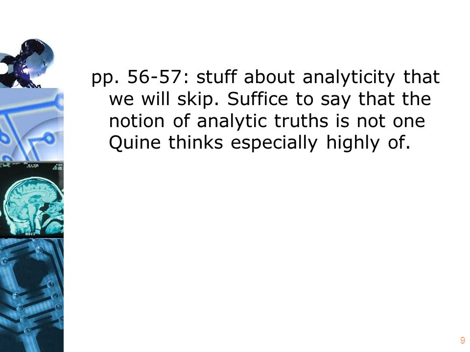 9 pp.56-57: stuff about analyticity that we will skip.