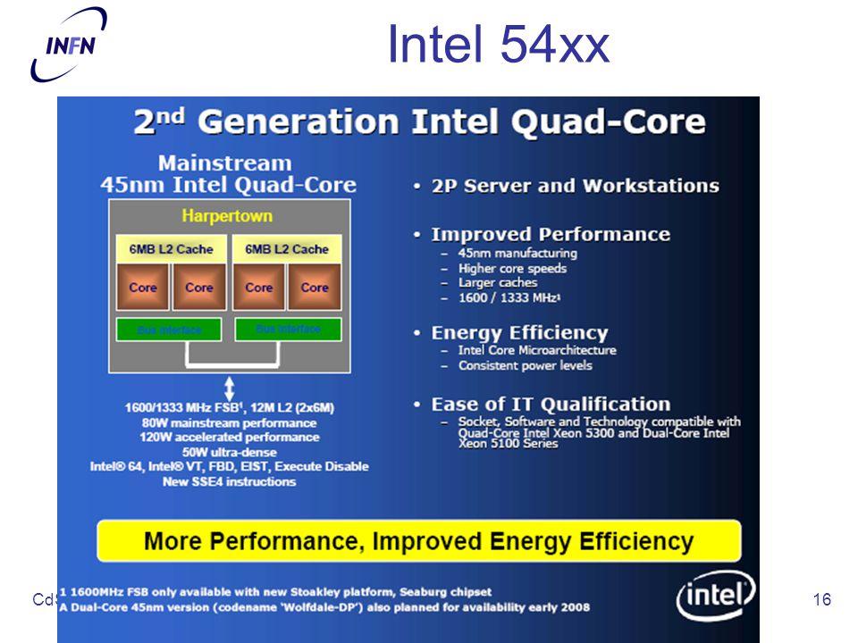 CdS - Luglio 2008 michele michelotto - INFN PD16 Intel 54xx