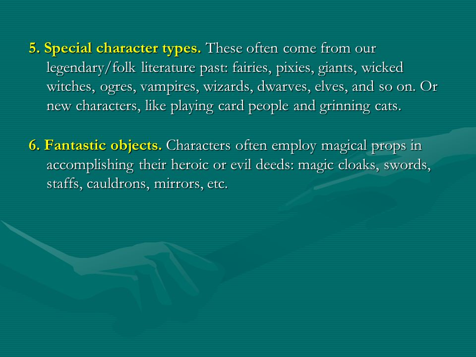 5. Special character types.