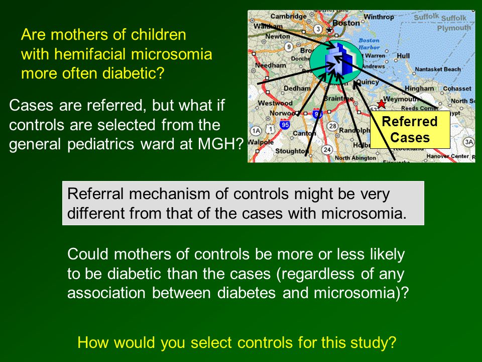 Referred Cases Are mothers of children with hemifacial microsomia more often diabetic.