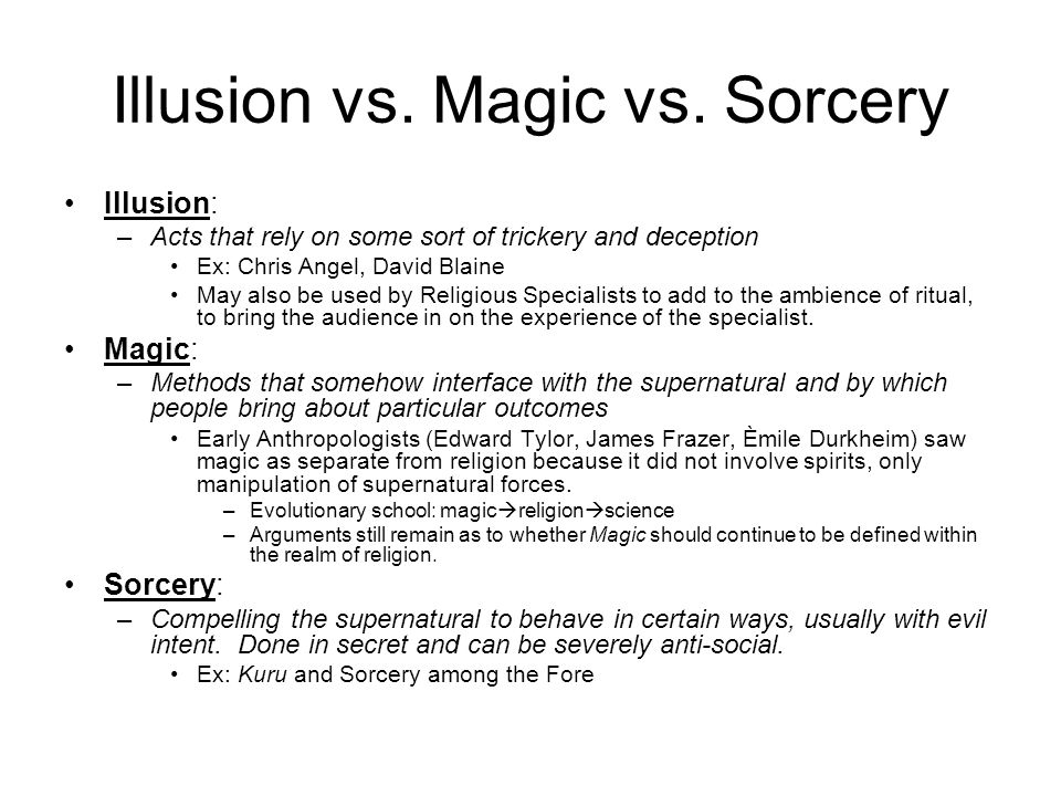 Illusion vs. Magic vs.